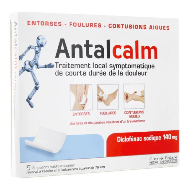 Antalcalm 140 mg 5 emplâtres
