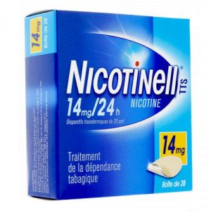 NICOTINELL TTS 14 mg/24 h, dispositif transdermique, 28 sachets