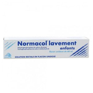 NORMACOL LAVEMENT ENFANTS, solution rectale, récipient unidose 60ml