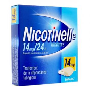 NICOTINELL TTS 14 mg/24 h, dispositif transdermique, 7 sachets