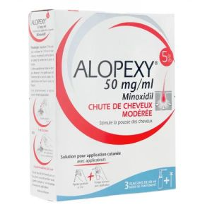 Alopexy Minoxidil 5% solution 3 x 60 ml