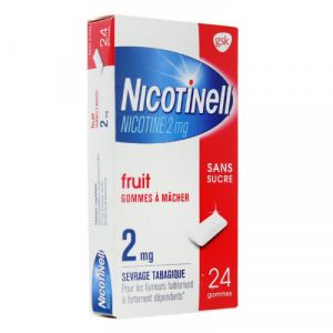 Nicotinell Fruit 2mg S/suc Gom 24