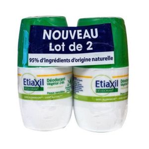 Etiaxil Déo Végétal 24h Fraich Bambou roll-on lot 2