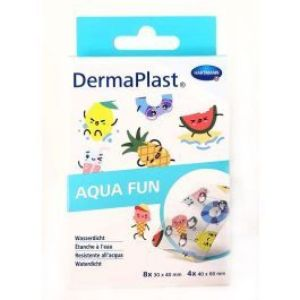 DermaPlast aqua fun kids boite de 12 pansements waterproof